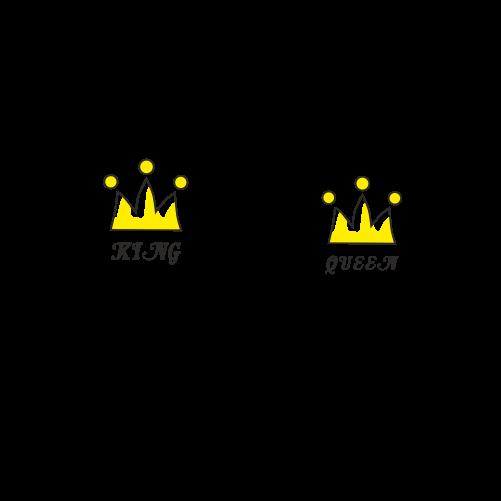 Парні футболки King - Queen. Ціна df036958169c7