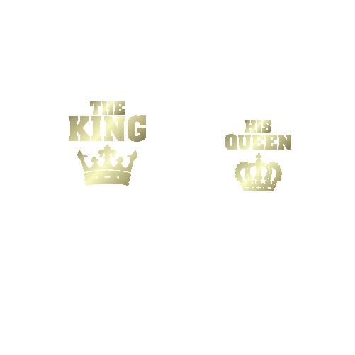 Парні футболки The King - his Queen. Ціна dfa0745fdb687