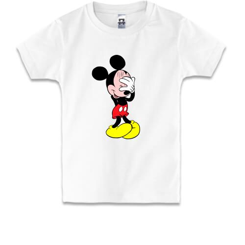 b52fd42776e16 Детская футболка смущенный Мики Маус. Цена, купить - Детская ...