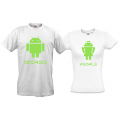 Парные футболки Android People