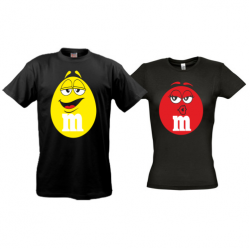 Парные футболки M&M's (color)