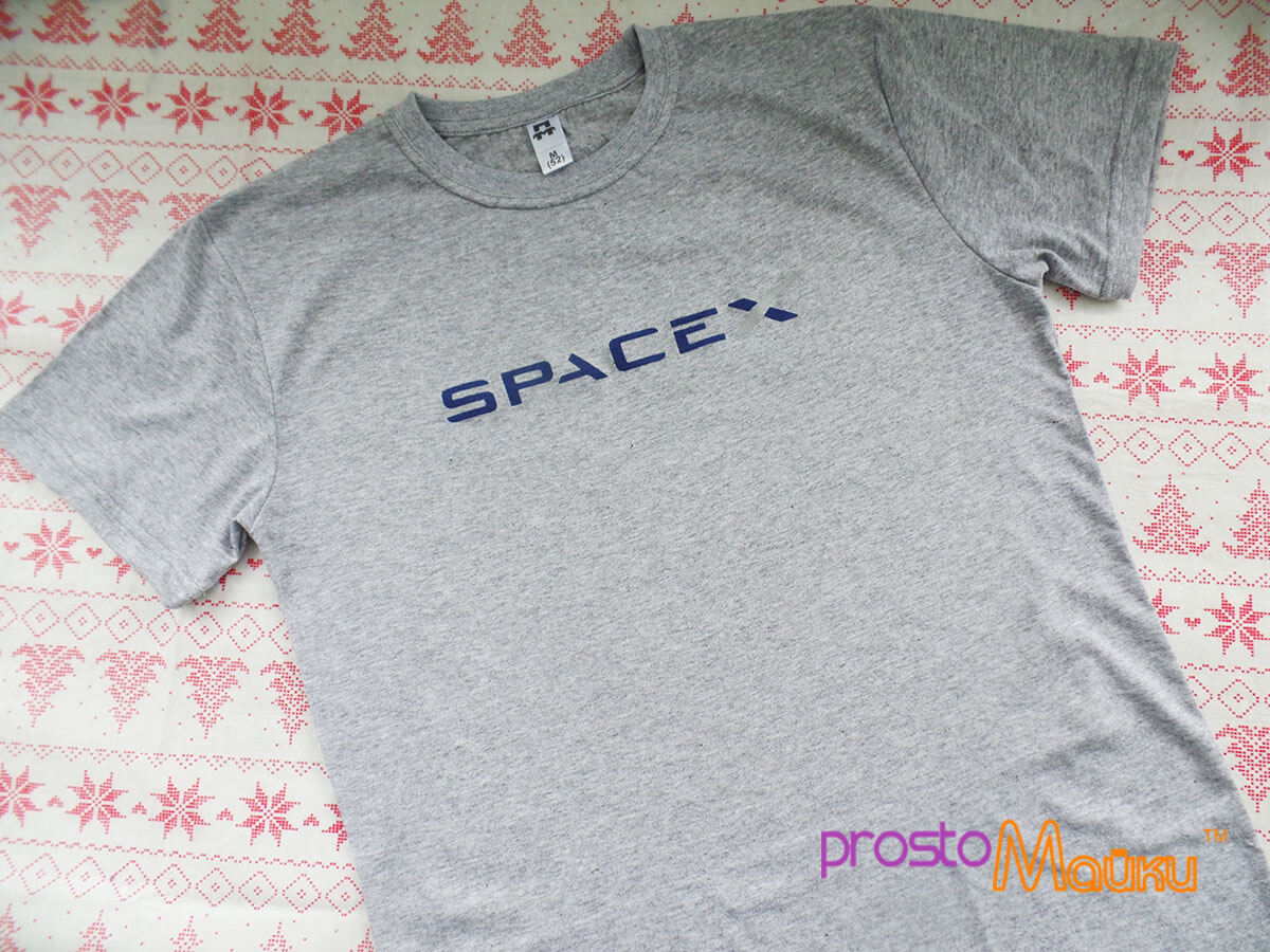 Футболка SpaceX. Ціна ef1b45396bc4c