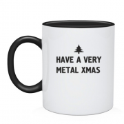 "Чашка c надписью ""have a very metal xmas"""