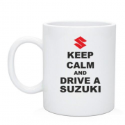 Чашка Keep calm and drive a SUZUKI