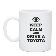 Чашка Keep calm and drive a Toyota