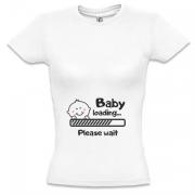 Футболка для беременных Baby loading b9c529386fe57