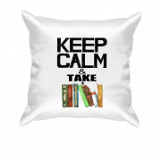 Подушка Keep calm & take book