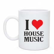 Чашка I love house music
