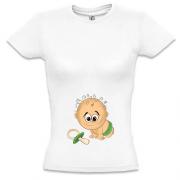 724dd487c55efd4 Футболка для беременных Малыш с пустышкой