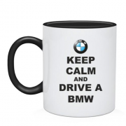 Чашка Keep calm and drive a BMW