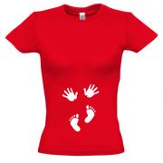 bc3361883805433 Футболки для беременных Ручки и ножки