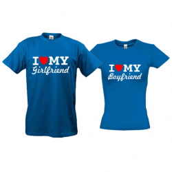 Парные футболки I love my girlfriend - boyfriend (2)
