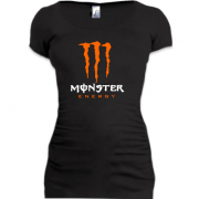 Подовжена футболка Monster energy (orange)