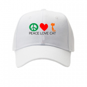 Кепка peace love cats