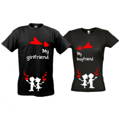 Парные футболки My-girlfriend-boyfriend