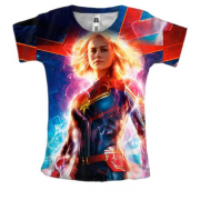 Женская 3D футболка Captain Marvel