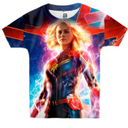 Детская 3D футболка Captain Marvel