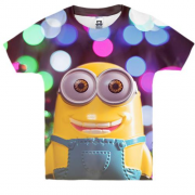 Детская 3D футболка New year minion