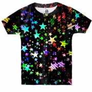 Детская 3D футболка Multicolored stars