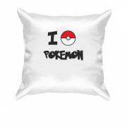 Подушка I love Pokemon