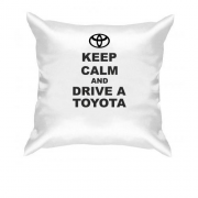 Подушка Keep calm and drive a Toyota