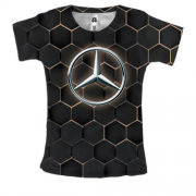 Женская 3D футболка Mercedes-Benz Logo