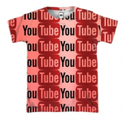 3D футболка YouTube pattern