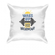Подушка WakeUp and WorkOut