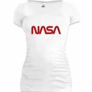 Подовжена футболка NASA Worm logo