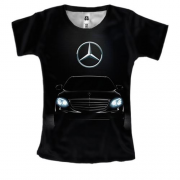 Женская 3D футболка Mercedes-Benz Black
