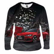 Мужской 3D лонгслив Audi Red and Black