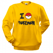 Світшот I love Pokemon
