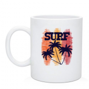 Чашка Surf and  Palm trees