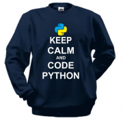 Світшот Keep calm and code python